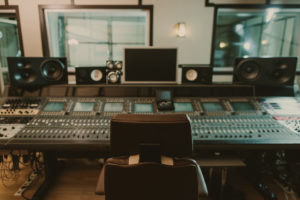 Mixing and mastering studio environment